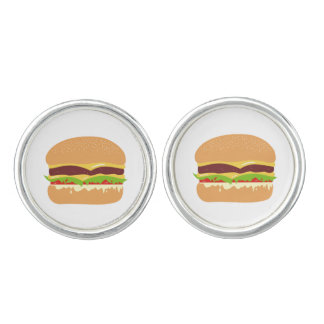 burger cuff links