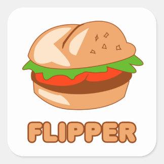 Burger Flipper Square Sticker