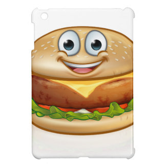 Burger Food Mascot Cartoon Character Cover For The iPad Mini