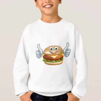 Burger Food Mascot Cartoon Character Sweatshirt