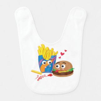 Burger & Fries in Love Bib