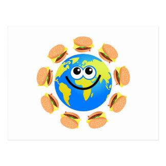 Burger Globe Postcard