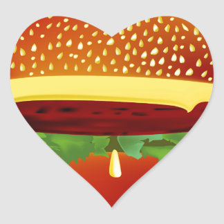 Burger Heart Sticker