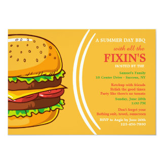 Burger Invitation