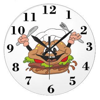 Burger Large Clock
