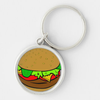 BURGER LOVE KEY CHAIN