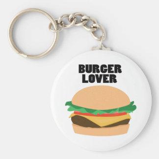 Burger Lover Basic Round Button Keychain
