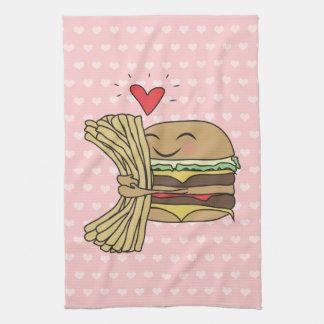 Burger Loves Fries Kitchen Towel