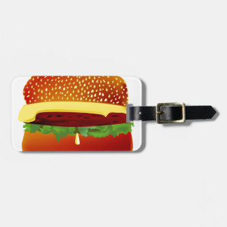 Burger Luggage Tag