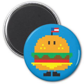 Burger Magnet - Blue