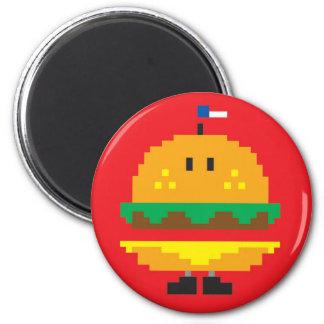 Burger Magnet - Red