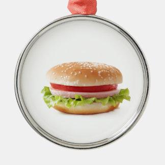 burger metal ornament