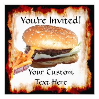 Burger n Fries Invitation