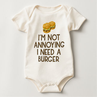 Burger nearly Food BBQ Barbecue Cheeseburger Baby Bodysuit