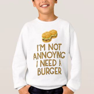 Burger nearly Food BBQ Barbecue Cheeseburger Sweatshirt