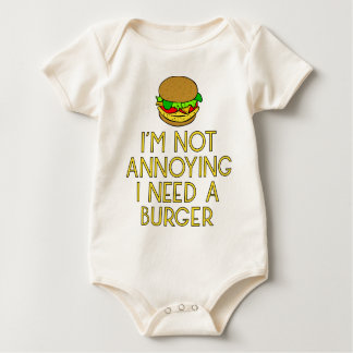 Burger nearly Food BBQ Barbecue hungry hunger Baby Bodysuit