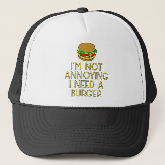 Burger nearly Food BBQ Barbecue hungry hunger Trucker Hat