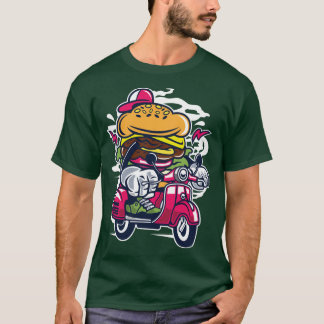Burger on a scooter Tee