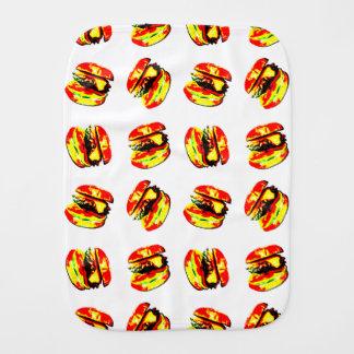 Burger Pattern Baby Burp Cloths