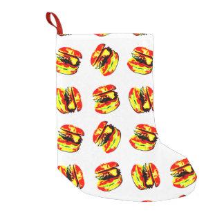 Burger Pattern Small Christmas Stocking
