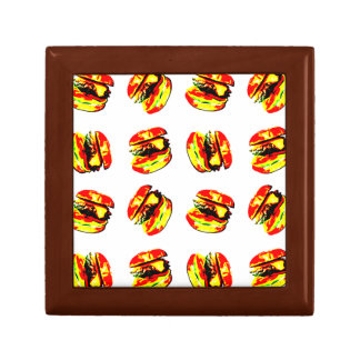 Burger Pattern Trinket Box