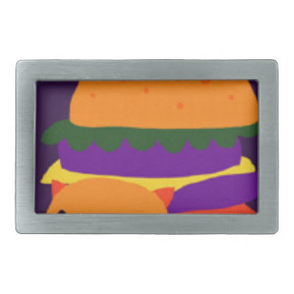 burger rectangular belt buckle