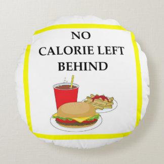 burger round pillow
