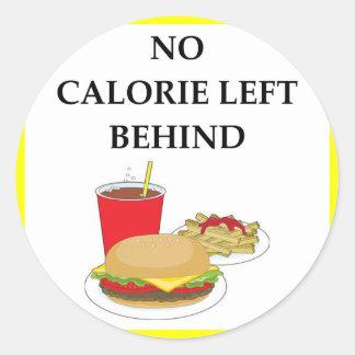 burger round sticker