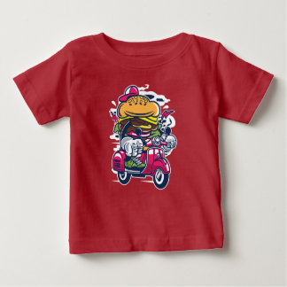 Burger Scooter Baby's T-Shirt