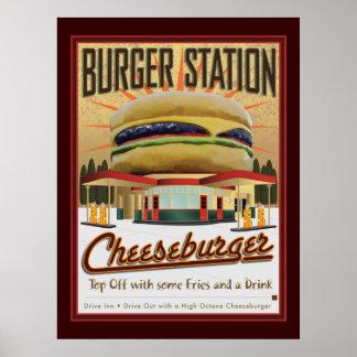 Burger Station-Poster Poster