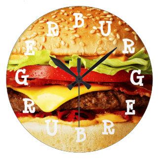Burger Time Wall Clocks