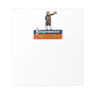 Burgermeister Beer & Ale Notepad