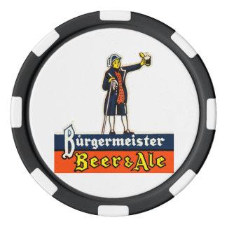 Burgermeister Beer & Ale Poker Chips