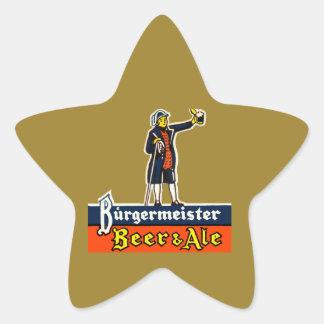 Burgermeister Beer & Ale Star Sticker