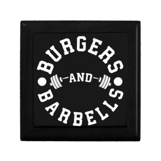 Burgers and Barbells - Funny Workout Motivational Gift Box