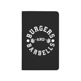 Burgers and Barbells - Funny Workout Motivational Journal