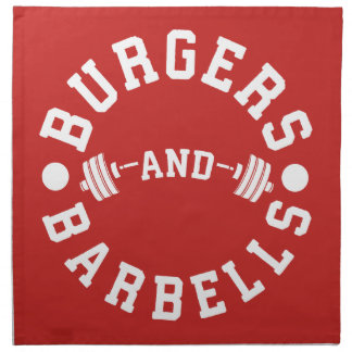 Burgers and Barbells - Funny Workout Motivational Napkin