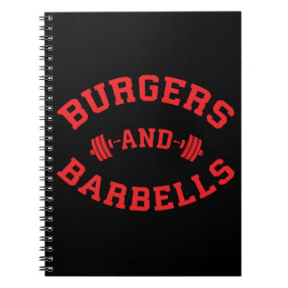 Burgers and Barbells - Lifting Workout Motivation Notebooks