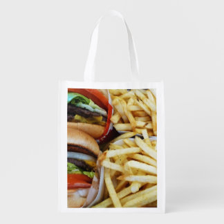 Burgers and Fries Grocery Bags