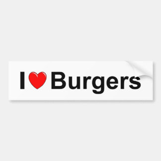 Burgers Bumper Sticker