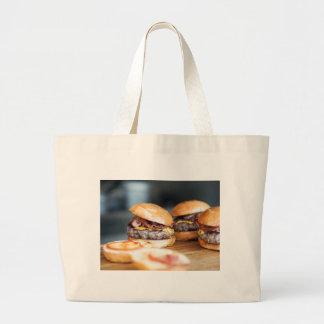 Burgers Large Tote Bag