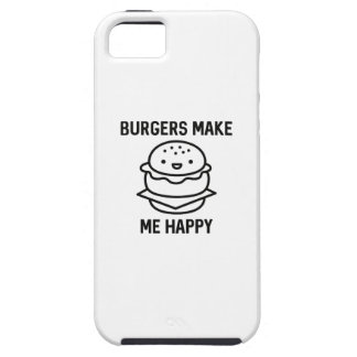 Burgers Make Me Happy iPhone 5 Case