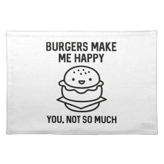Burgers Make Me Happy Placemat