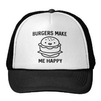 Burgers Make Me Happy Trucker Hat