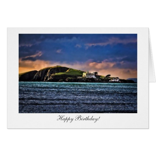 Burgh Island, Bigbury, Devon - Happy Birthday Card