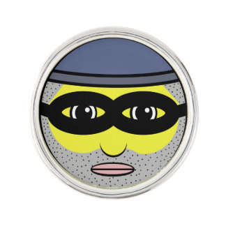 Burglar Face Lapel Pin