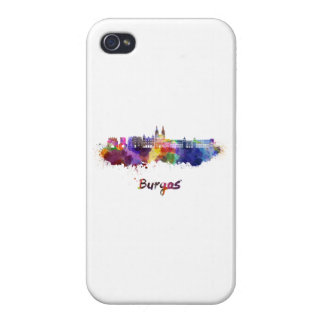 Burgos skyline in watercolor iPhone 4/4S cover