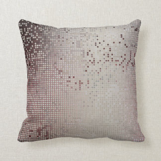 Burgund Maroon Vip Silver Cyber Numeric IT- DESIGN Throw Pillow