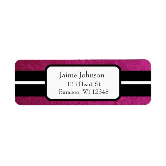 Burgundy and Black Classy  Return Address Sticker Return Address Label