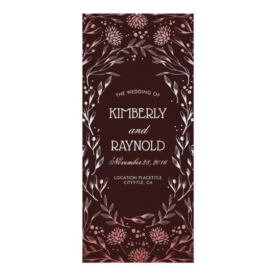 Burgundy and Blush Elegant Wedding Programs
